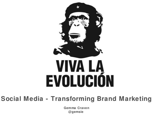 Social Media - Transforming Brand Marketing Gemma Craven @gemsie