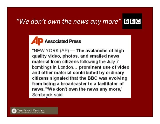 """""""We  don't  own  the  news  any  more"""""""