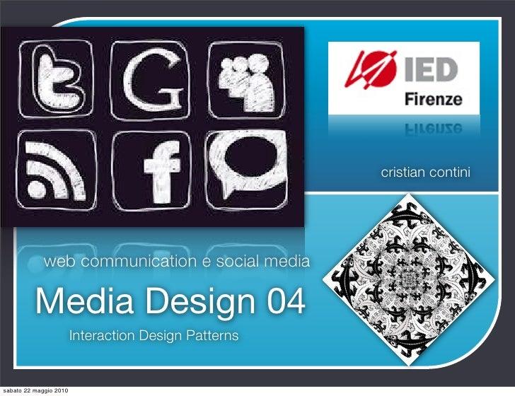 cristian contini                  web communication e social media            Media Design 04                         Inte...