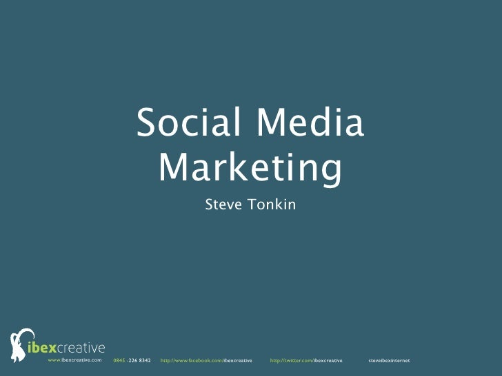 Social Media                                Marketing                                                         Steve Tonkin...
