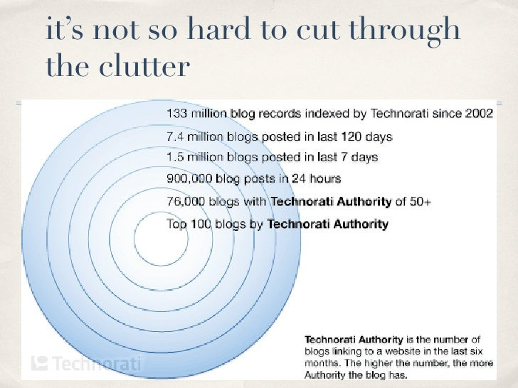 it's not so hard to cut through the clutter