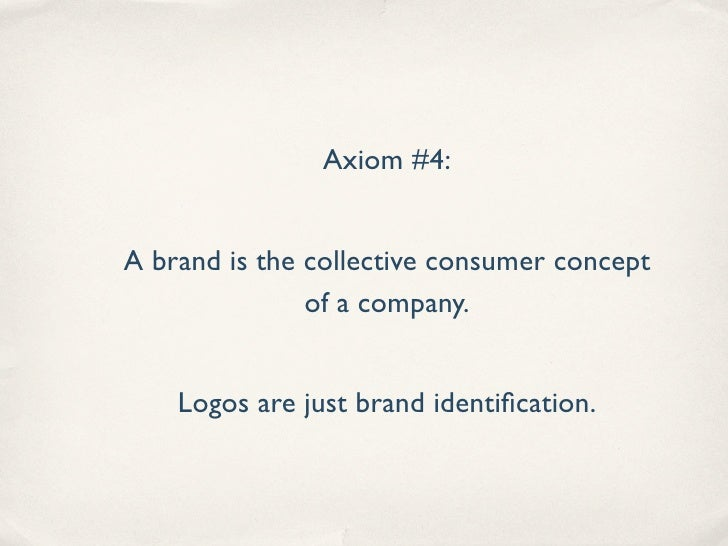 Axiom #5           quot;The biggest challenge is moving away from    thinking about [social media] as marketing and PR.   ...