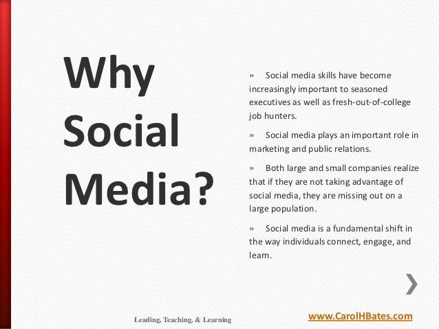 Why                               » Social media skills have become                                  increasingly importan...