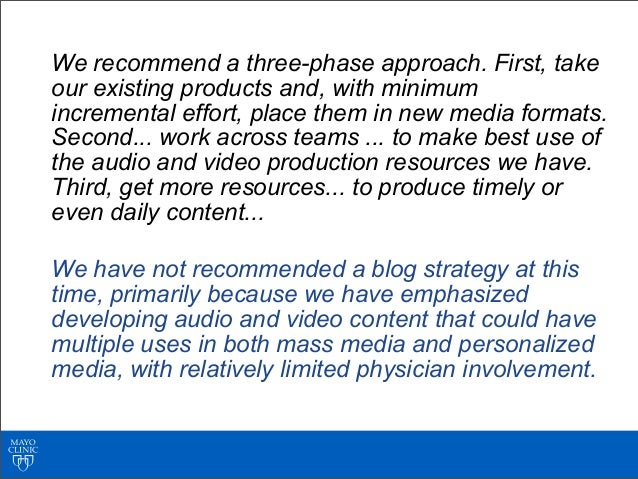 We recommend a three-phase approach. First, takeour existing products and, with minimumincremental effort, place them in n...