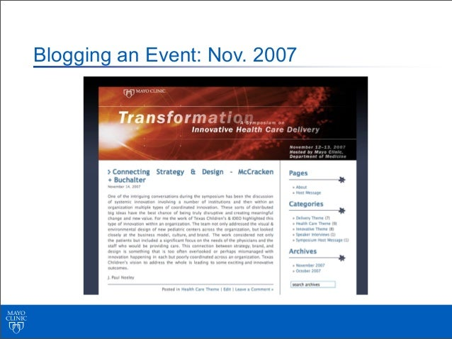 Involuntary Social Networking Presence:http://myspace.com/mayoclinic