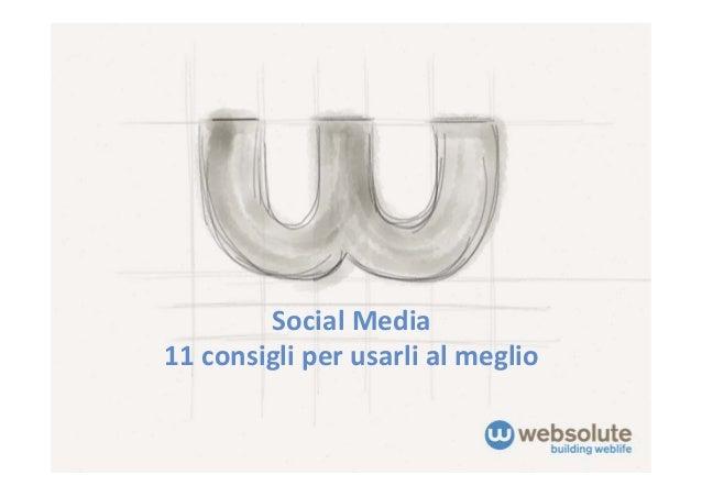 SocialMedia11consigliperusarlialmeglio