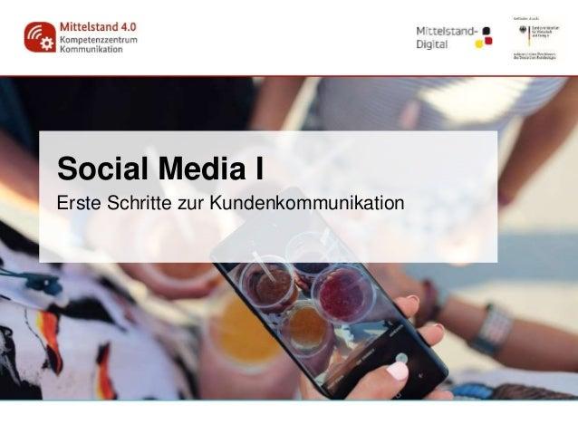Social Media I Erste Schritte zur Kundenkommunikation