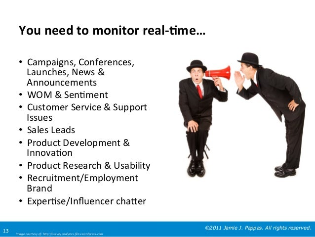 You	   need	   to	   monitor	   real-­‐8me…	    •  Campaigns,	   Conferences,	    Launches,	   News	   &	    Announcements...