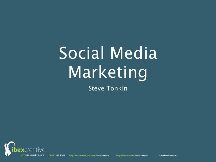 Social Media                                Marketing                                                         Steve Tonkin...