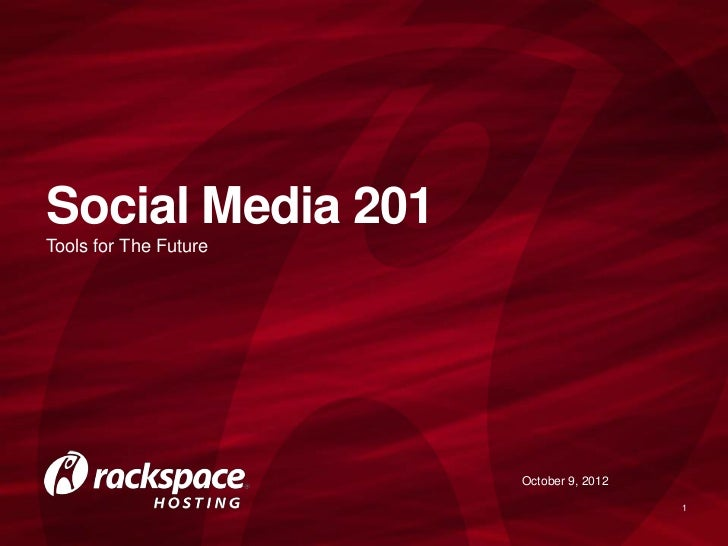 Social Media 201 for Non-Profit Organizations