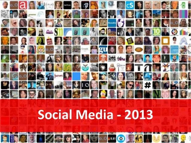 Social Media - 2013