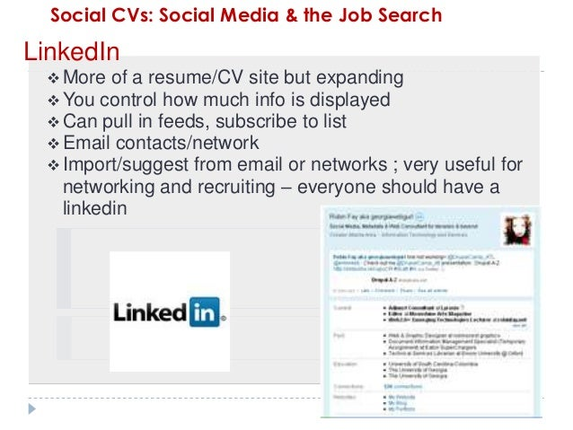 social cvs  social media  u0026 the job search