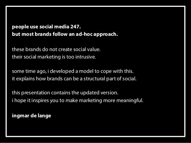 social media 247 - a marketing model - 2014 version Slide 2