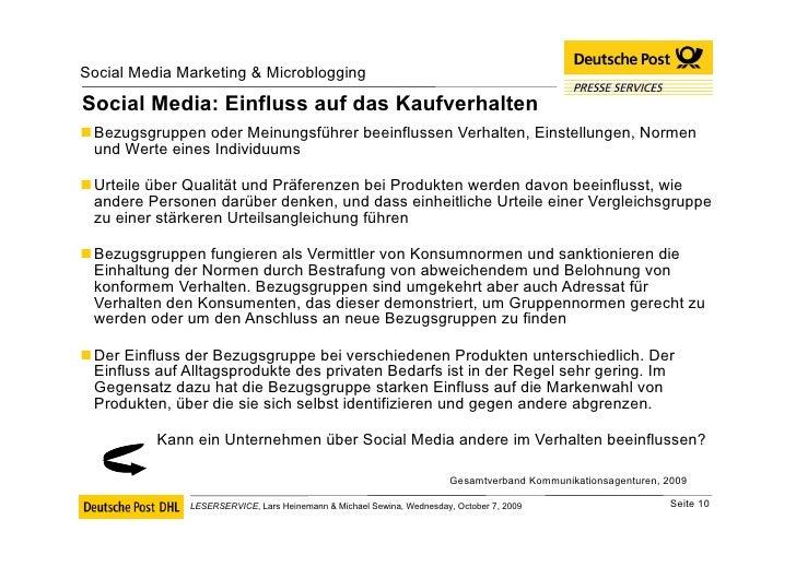 Social Media: Einfluss auf das Kaufverhalten <ul><li>Bezugsgruppen oder Meinungsführer beeinflussen Verhalten, Einstellung...