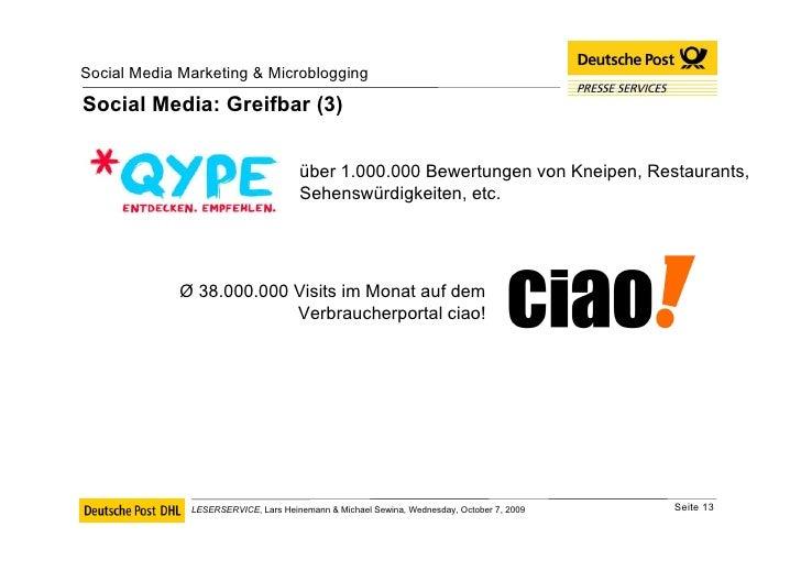 Social Media: Greifbar (3) über 1.000.000 Bewertungen von Kneipen, Restaurants, Sehenswürdigkeiten, etc. Ø  38.000.000 Vis...