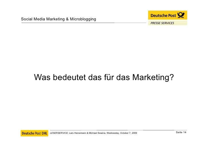 <ul><li>Was bedeutet das für das Marketing? </li></ul>