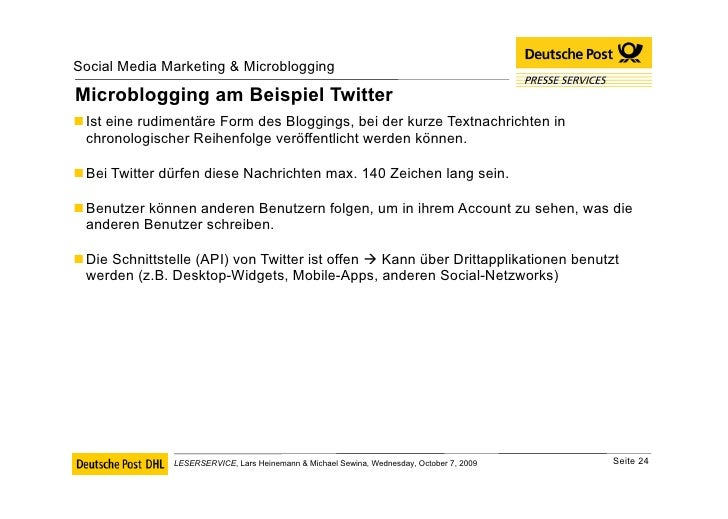Microblogging am Beispiel Twitter <ul><li>Ist eine rudimentäre Form des Bloggings, bei der kurze Textnachrichten in chrono...