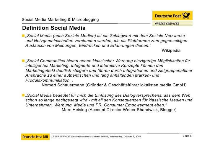 """Definition Social Media <ul><li>"""" Social Media (auch Soziale Medien) ist ein Schlagwort mit dem Soziale Netzwerke und Netz..."""