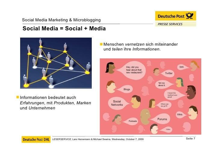 Social Media = Social + Media <ul><li>Menschen  vernetzen  sich miteinander und  teilen  ihre  Informationen . </li></ul><...