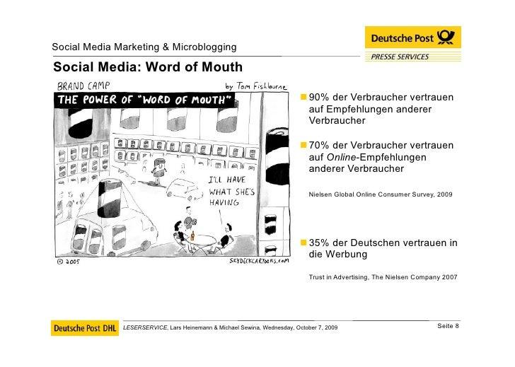 Social Media: Word of Mouth <ul><li>90% der Verbraucher vertrauen auf Empfehlungen anderer Verbraucher </li></ul><ul><li>7...