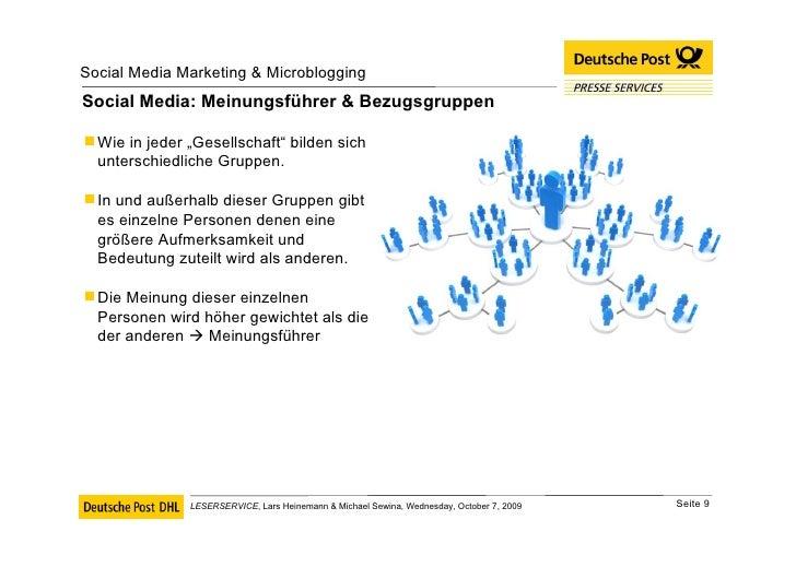 "Social Media: Meinungsführer & Bezugsgruppen <ul><li>Wie in jeder ""Gesellschaft"" bilden sich unterschiedliche Gruppen.  </..."