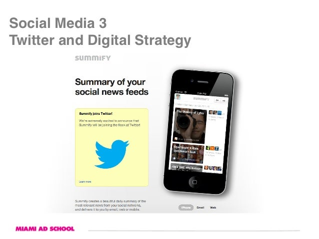 """Social Media 3Twitter and Digital Strategy"""""""