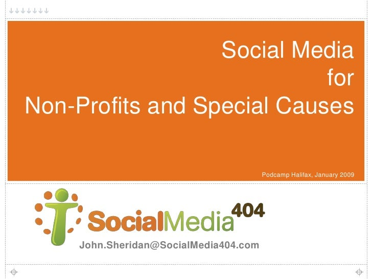 Social Media                             for Non-Profits and Special Causes                                          Podca...