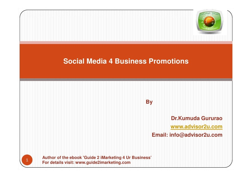 Social Media 4 Business Promotions                                                            By                          ...