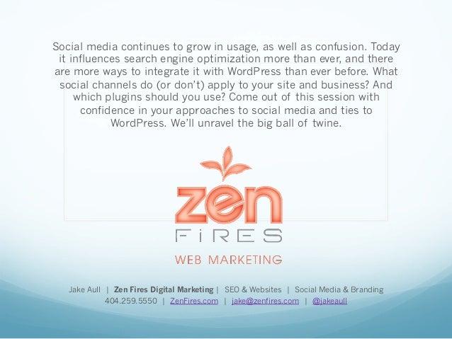 Social Media Uses for WordPress Sites  Slide 2