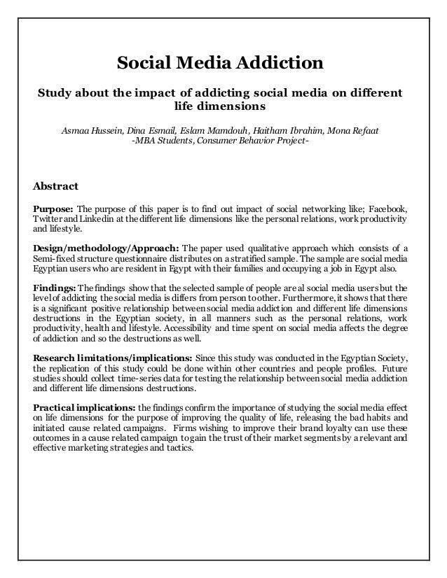 Research Essay: Social Media Addiction