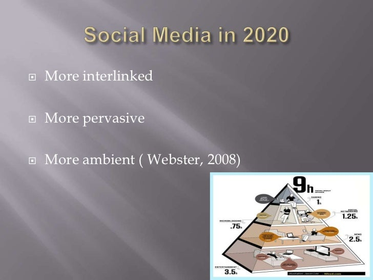 the future of social media Any media is a combination of channel and information media uses platform to build the channel to communicate with its audience an audience chooses the.