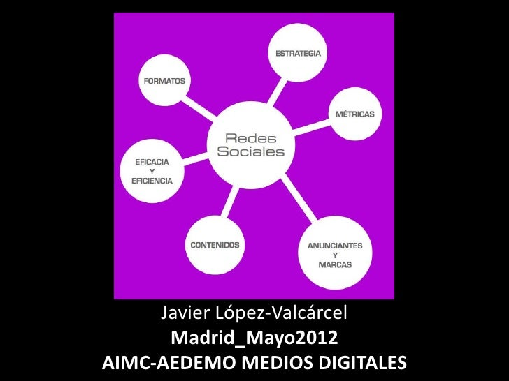 Javier López-Valcárcel      Madrid_Mayo2012AIMC-AEDEMO MEDIOS DIGITALES