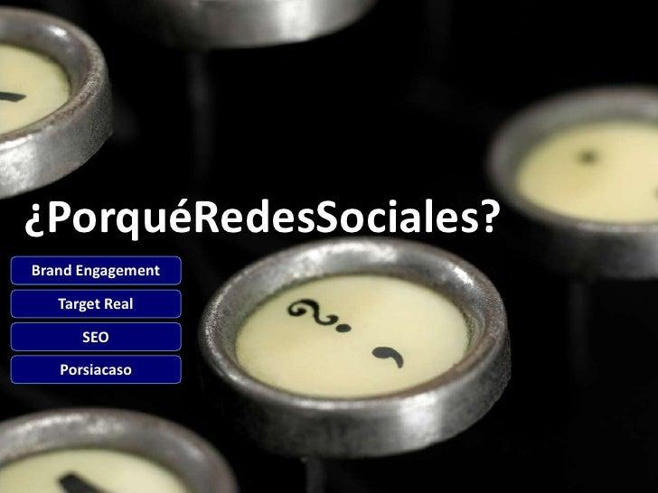 ¿Cómo en RedesSociales?