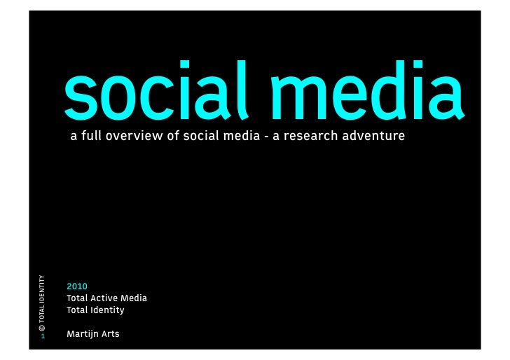 social media                    a full overview of social media - a research adventure © TOTAL IDENTITY                   ...