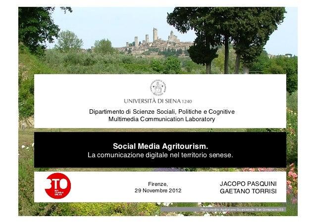 Dipartimento di Scienze Sociali, Politiche e Cognitive       Multimedia Communication Laboratory!         Social Media A...