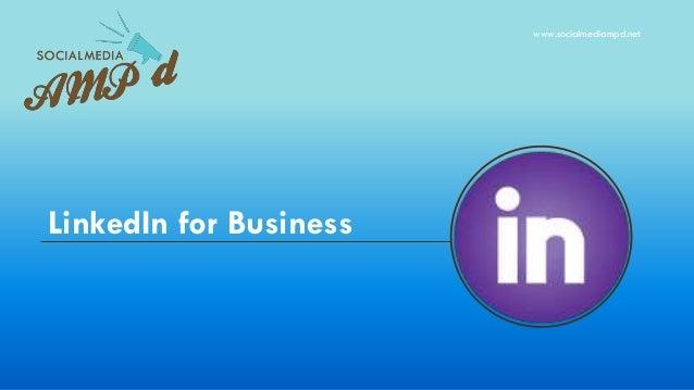 LinkedIn for Business www.socialmediampd.net