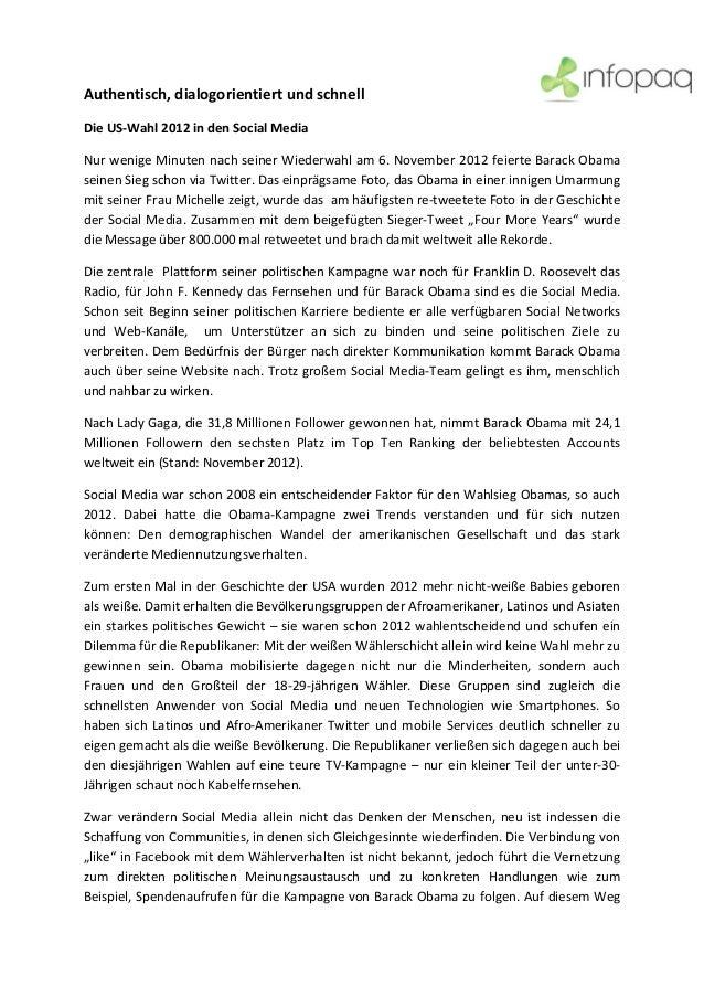Authentisch,dialogorientiertundschnellDieUS‐Wahl2012indenSocialMediaNurwenigeMinutennachseinerWiederwahl...