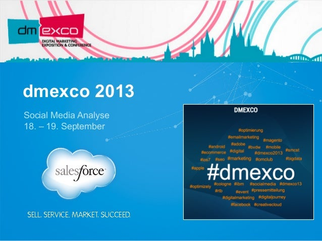 dmexco 2013 Social Media Analyse 18. – 19. September