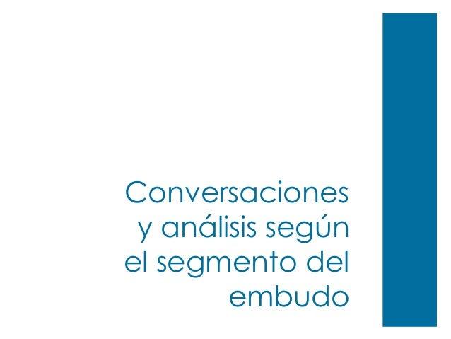 Conversaciones y análisis según el segmento del embudo