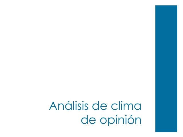 Análisis de clima de opinión