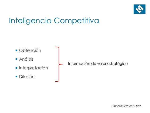 Inteligencia Competitiva  Obtención  Análisis  Interpretación  Difusión Información de valor estratégico Gibbons y Pre...