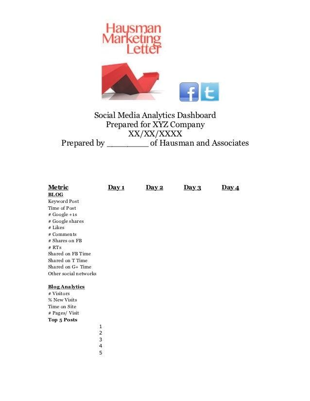 Social Media Analytics Dashboard                 Prepared for XYZ Company                       XX/XX/XXXX     Prepared by...