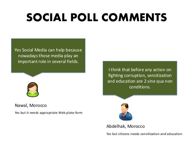 SOCIAL POLL COMMENTSYes Social Media can help because  nowadays those media play an important role in several fields.     ...