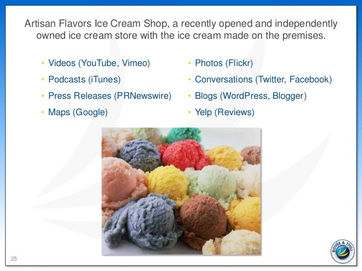 Artisan Flavors Ice Cream Shop, a recently opened and independently        owned ice cream store with the ice cream made o...