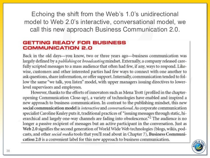 Echoing the shift from the Web's 1.0's unidirectional     model to Web 2.0's interactive, conversational model, we      ca...