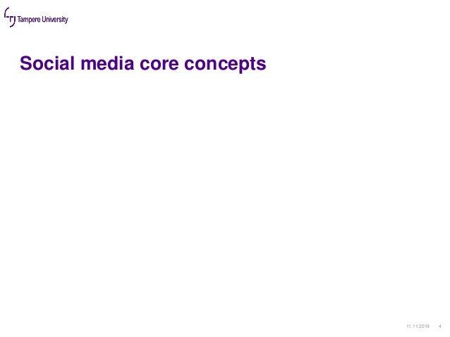 Social media core concepts 11.11.2019 4