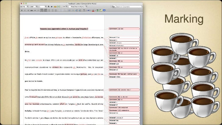 Using Social Media for Peer Feedback in a Translation Class Slide 3