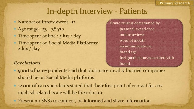 Primary Research Number of Interviewees : 12                   Brand trust is determined by Age range : 23 – 38 yrs     ...