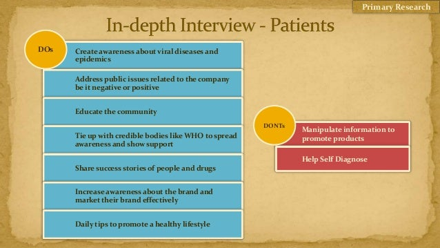 Primary ResearchDOs   Create awareness about viral diseases and      epidemics      Address public issues related to the c...