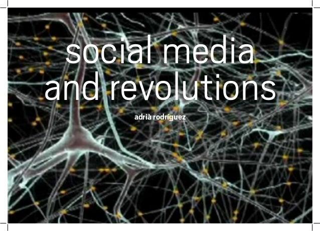 social media and revolutionsadrià rodríguez